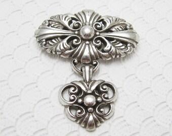Vintage Brighton Heart Brooch Charm Jewelry P6335