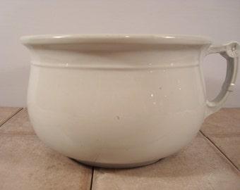 Wonderful old white ironstone chamber pot- W&E Corn, England