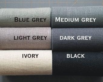 6 inch GREY BLACK or IVORY Burlap Ribbon x 3  yards