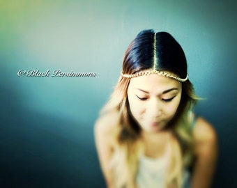 CHAINS HeadPiece No. 2 - Gold Plated Brass - Domestic Free Shipping