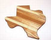 Texas Wood Cutting Board (Big Texas) Handcrafted from Mixed Hardwoods