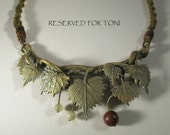 RESERVED FOR TONI Muscadine Vine Necklace with Kumihimo