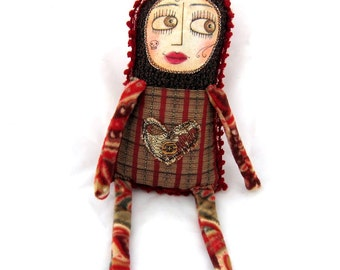 Margaret -  a sweet rag doll with hand-painted face