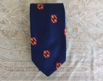 Vintage 1970's May Co. Men's Blue Tie