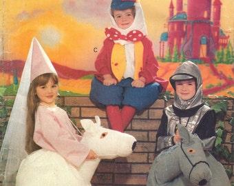 Butterick 4285 Humpty Dumpty Princess Knight Horse Costume Pattern Childs Vintage Sewing Pattern Sewing Pattern Size S M L B 23- 28 UNCUT