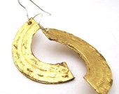 Gold leaf Contemporary Drop Earrings