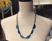 Turquoise scallop necklace