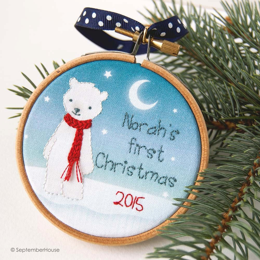 Personalized baby s first christmas ornament by septemberhouse