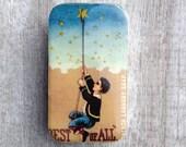 Pill box, vintage soap ad tin, gift tin