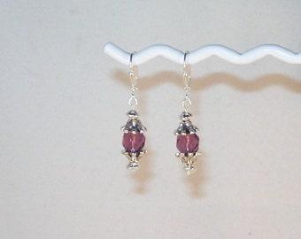 Amethyst Swarovski Crystal Earrings