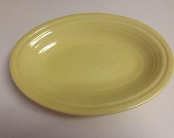 Fiesta Pale Yellow Oval Platter Gravy Tray Underplate 9 x 7