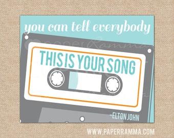 Your Song Elton John,Rock n Roll Baby,Nursery Wall Art, Baby Shower Gift, Rock and Roll Nursery //Choose Art Print or Canvas /N-X75-1PS AA1