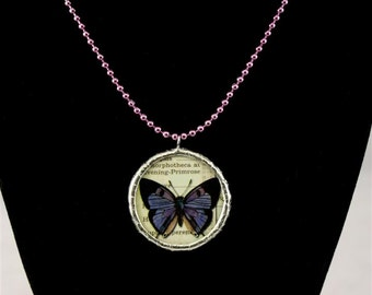 Create Silhouette and Butterfly Double Sided Soldered Neclace - Free Shipping in US -