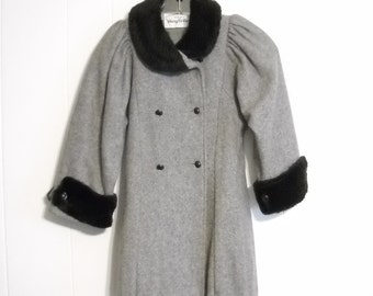 Vintage Girls Coat and Hat Young Gallery Wool Coat
