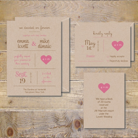 Printable Wedding Invitations DIY Wedding Invitations