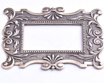 Antique Brass Frame, 61mm x 48mm, Stamped, 04845AG, each