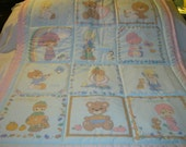 Handmade Baby Precious Moments Calender With 12 Months Baby/Toddler Quilt-Newly Made- 2016