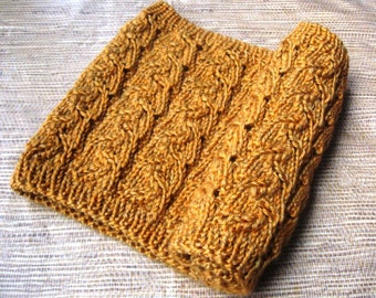 Knit Foxglove Cowl PDF pattern, simple slip-on scarf, lace pattern, foxglove image, quick knit project, worsted weight yarn project