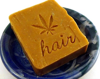 Citrus Bay Rum Patchouli Shampoo bar -  Hemp Oil shampoo bar - Vegan Shampoo Bar