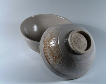 Ceramic Cereal Bowls - Set of Two - White Shino - Ceramic Bowl - Wheel Thrown Soup Bowl - Stoneware bowls - Pottery Bowls