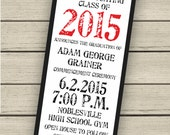 Printable Class Of 2015 Graduation Announcement or Open House Invitation