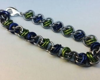 Seahawks Chainmaille Bracelet