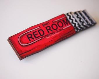 Twin Peaks Red Room Gum Stick Laser Cut Wood Brooch