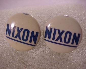 Political Cuff Links Nixon Campaign Button - Free Shipping to USA