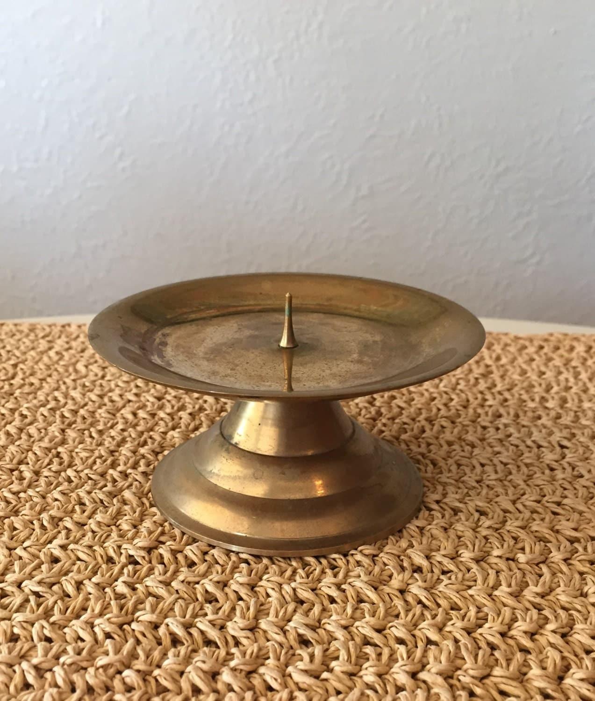 Brass Pillar Candle Holder