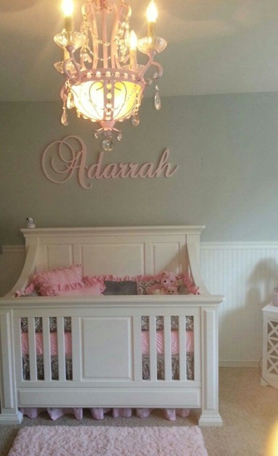 Wall Decor GLITTERED Wooden Sign Wooden Letters For Nursery