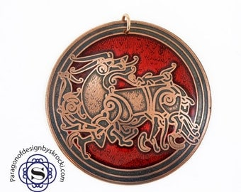 Viking pendant, beast pendant, norse pendant, Celtic pendant, the great beast, viking animal, norse pendant, gift for men, historical