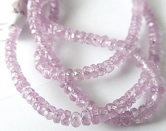 AAA Pink Sapphire Gemstone. Faceted Rondelles, 3.5mm. Semi Precious Gemstone. Your Choice. (7sap3)