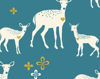 Monaluna, Organic Cotton Fabric, Deerheart , Westwood, by the yard