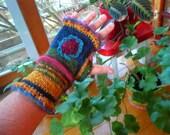 elderberry--a pair of lighter weight  wool wristwarmers