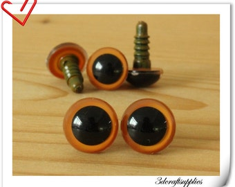 12 mm dark orange Safety eye amigurumi eye doll eyes cat eye 16 pieces  EB63