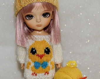 SALE - Lati Yellow-Pukifee - Chick with a Bow Sweater - Cream - LIMITED