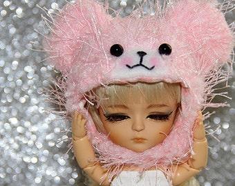 SALE - LATI Yellow PukiFee - Long Lashes Baby Pink TEDDY Hat