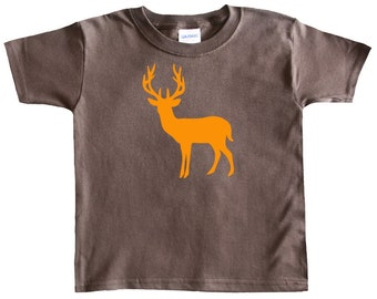 Deer Silhouette - Graphic Baby T-shirt for Boys