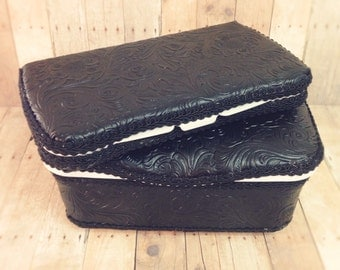 Black Leather baby wipes box and leather nursery wipes case bohemian baby decor boho baby nursery decor great for your leather diaper bag