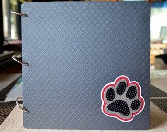Handmade custom dog pet photo scrapbook album