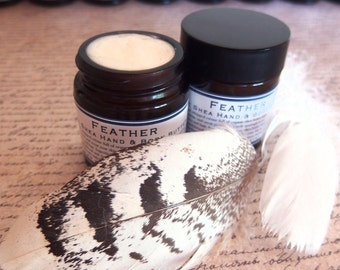 Feather Hand & Body Butter -  pure organic shea butter lightly whipped with sandalwood, rose, lavender and Vanilla