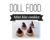 "Fake kiss cookies for your 18"" doll 4pc"