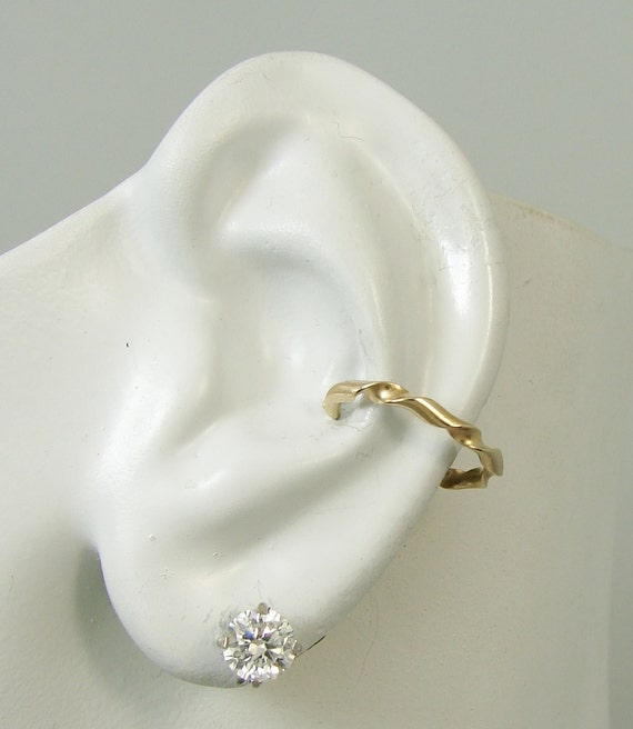 conch piercing cartilage earring gold pierced ear cuff