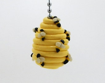 Beehive, bumble bee, honey bee fan pull