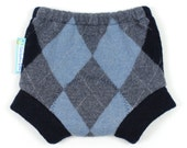 "WOOL SOAKER - Wool Diaper Cover - ""Preppy Pants"" - X-Small Newborn"