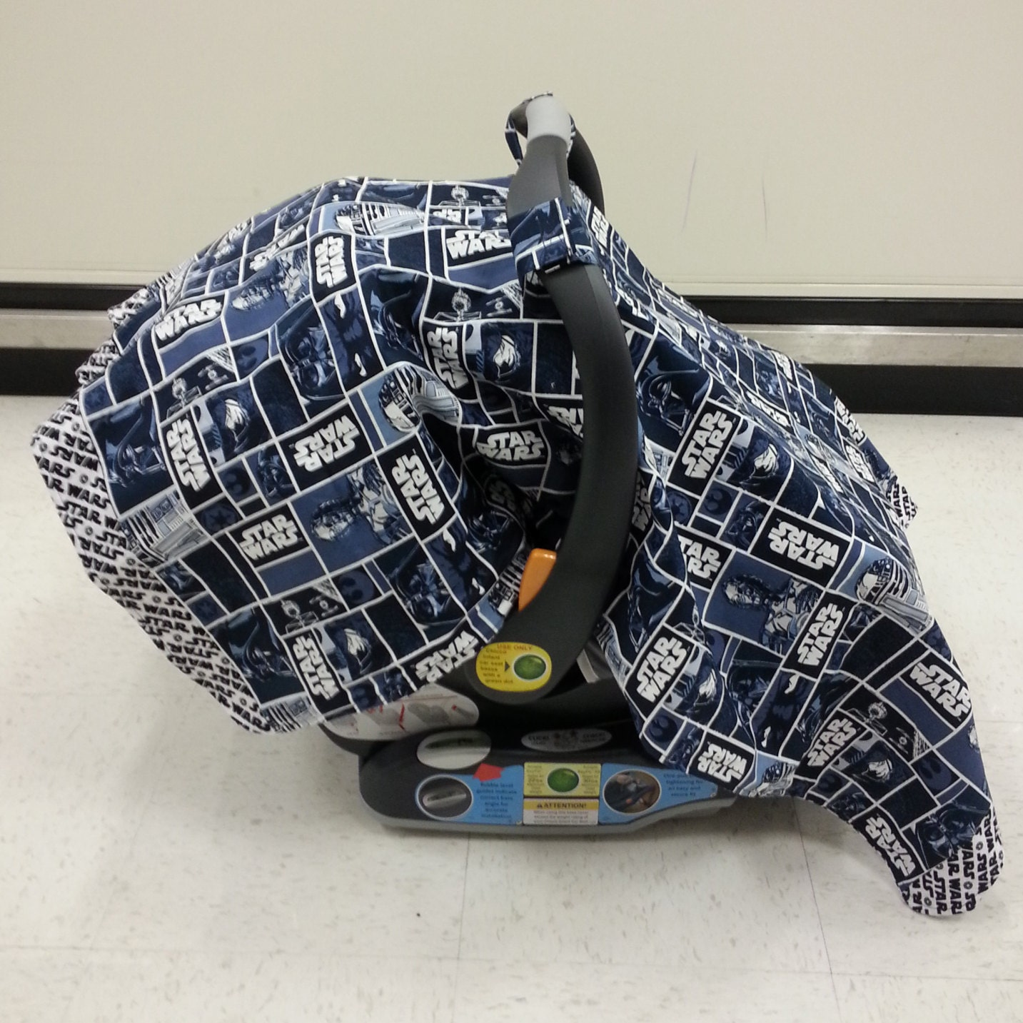 Star Wars Car Seat Canopy Cover W Flannel Back Can Be