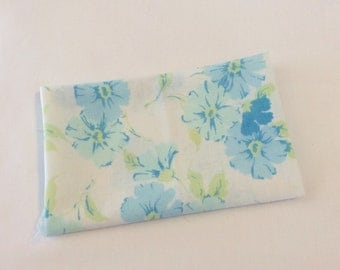 Blue floral vintage sheet fat quarter