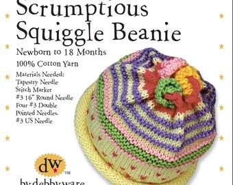 Knitting Kit Baby Beanie//Newborn Baby Beanie/Newborn-18 mos.Baby Beanie/Knitting Kit/Cotton Baby Beanie/Knitting/Baby/Beanie/Cotton/Newobrn