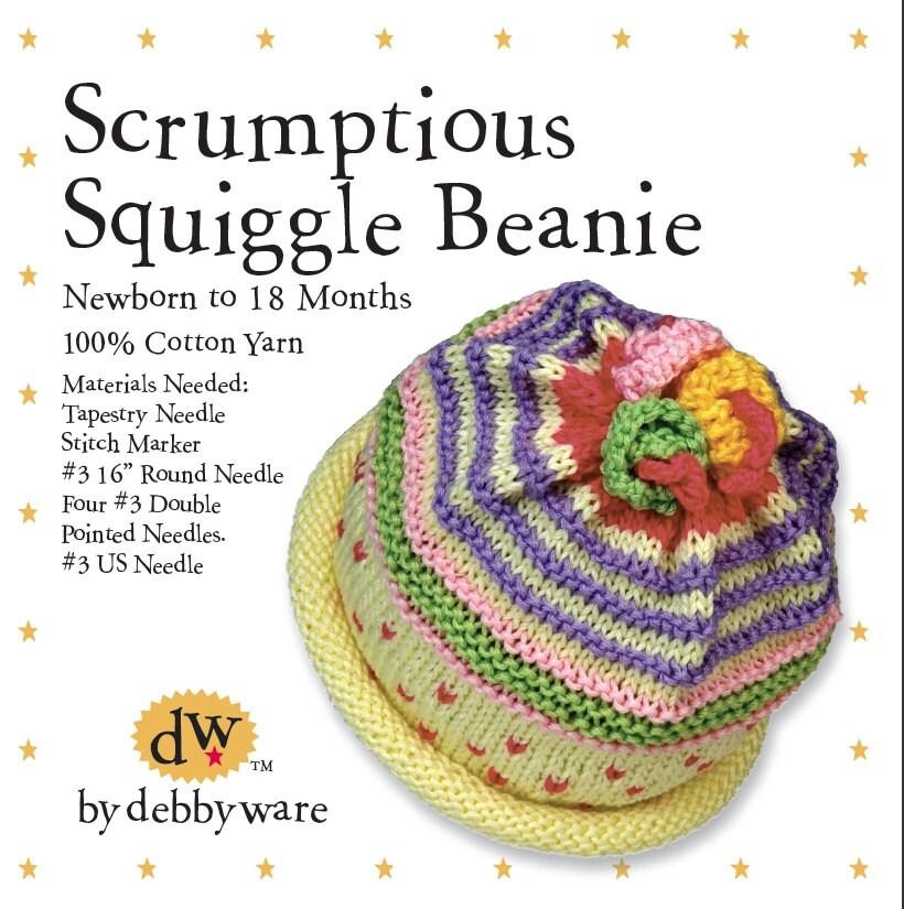 Knitting Kit Baby Beanie//Newborn Baby Beanie/Newborn-18