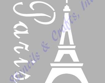 "EIFFEL TOWER PARIS france stencil stencils template templates scrapbook pochoir paint pattern background craft new 8""x 10"" free shipping"